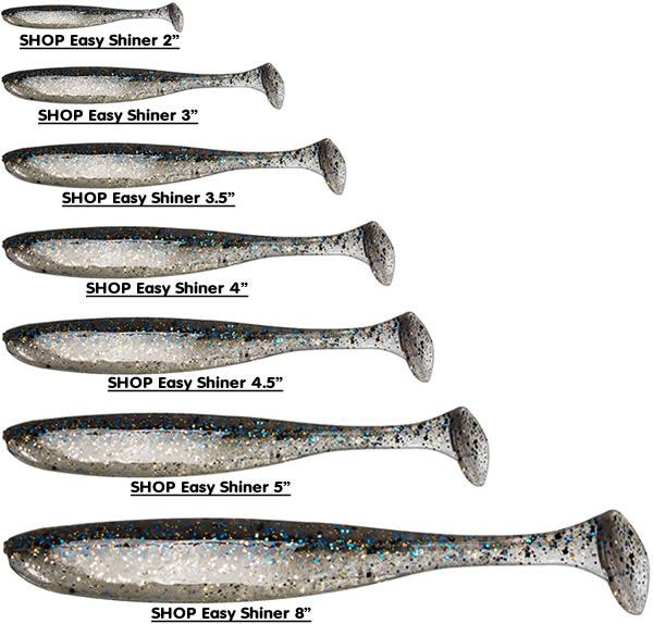 "7pk Keitech Easy Shiner Paddle Tail Soft Body Swimbait Bass Lure 4/"" 10 Cm"