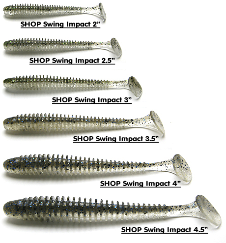 Keitech Swing Impact Sizes