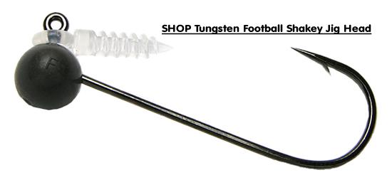 Keitech Tungsten Jig Heads: Keitech Shaky Football Tungsten