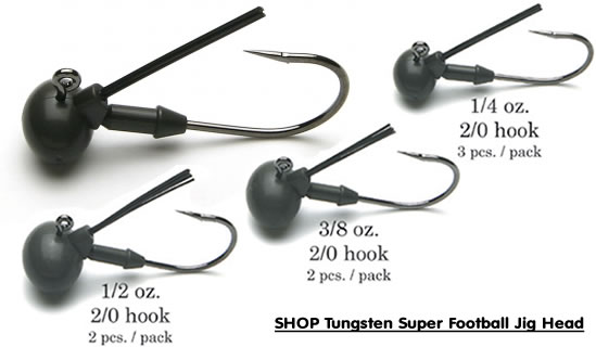 Keitech Tungsten Super Football Jig Heads