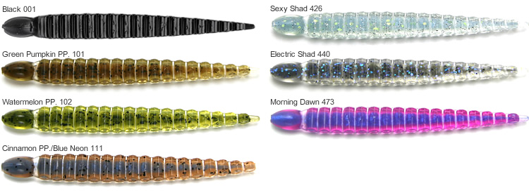 Keitech Custom Leech Colors