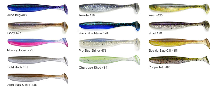 Keitech Swimbait Great New Colors